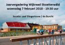 Jaarvergadering Wijkraad Skoatterwâld